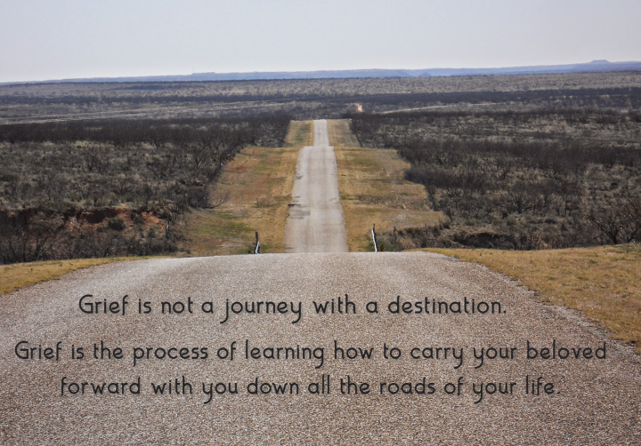 Grief is not a journey.